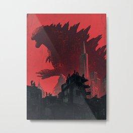 Godzilla-King Kong 01 Metal Print