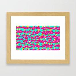 Pink March Framed Art Print