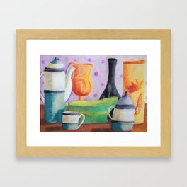 Bottlescape II, Abstract Alice in Wonderland Party Framed Art Print