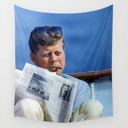 John F Kennedy Smoking Wall Tapestry