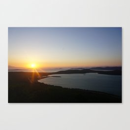 End of a day Canvas Print