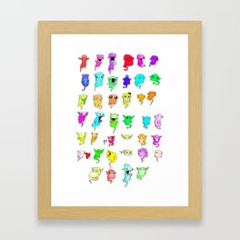 Pack of Monsters Framed Art Print