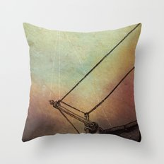 Gently Guided Ship Throw Pillow