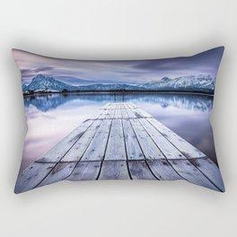 Beautiful Pier At Hopfensee Füssen Bayern Germany Ultra HD Rectangular Pillow