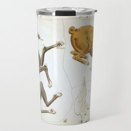 Sidney Hall - Urania's Mirror (1824) - Canis Major, Lepus, Columba Noachi & Cela Sculptoris Travel Mug