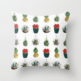 Festive Succulents Throw Pillow