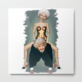 Dorothy & Sophia Golden Girls Metal Print