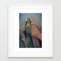 sea turtle Framed Art Prints featuring Turtle by NobleDezynz