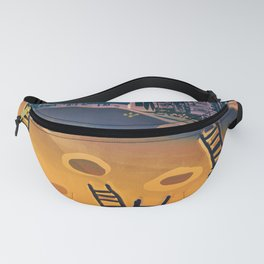 Time through Time, from Caves to Skyscraper, from Organic to Geometric Fanny Pack