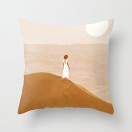Endless Dunes Throw Pillow