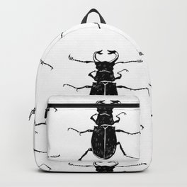 MINIMAL + MONOCHROME BEETLE PATTERN Backpack