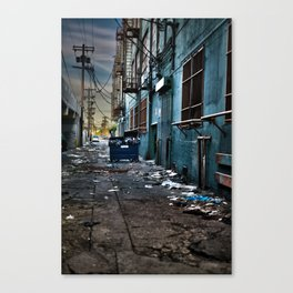 Flat Trash Canvas Print