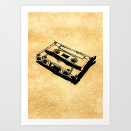 Retro Cassette Tape Art Print
