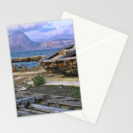 Old Port of Trapani on the Isle of Sicily Stationery Cards