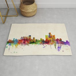 Detroit Skyline Rugs For Any Room Or Decor Style Society6