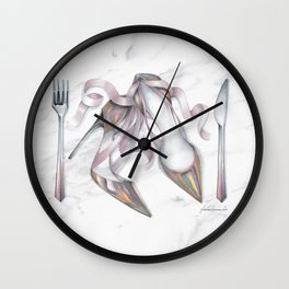 No Carbs for Dinner: Glamorous  Wall Clock