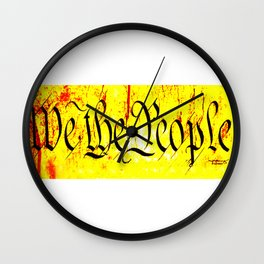 We The People jGibney The MUSEUM Society6 Gifts Wall Clock