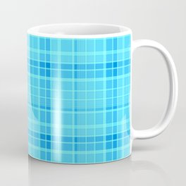 sky blue plaid Coffee Mug