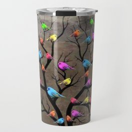 Colorful birds Travel Mug