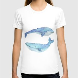 whale watercolor T-shirt