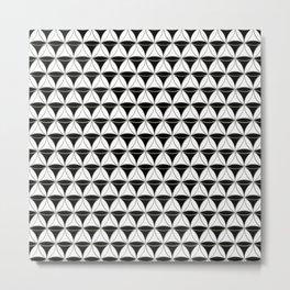 Cone Pattern Black-White Metal Print