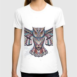 Colorful Ethnic Owl T-shirt