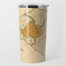 Map Of Athens Georgia 1893 Travel Mug