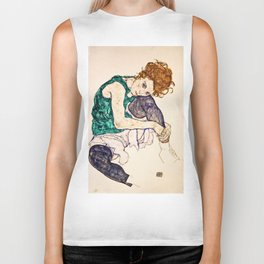 Egon Schiele - Seated Woman With Legs Drawn Up Biker Tank