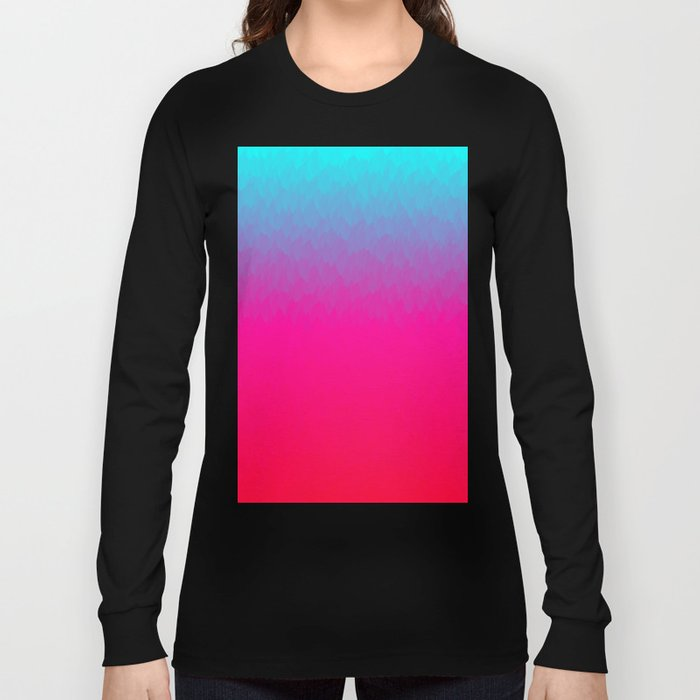 Blue purple and pink ombre flames Long Sleeve T-shirt
