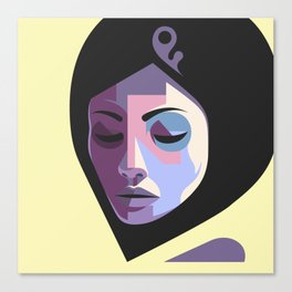 Girl in hijab Canvas Print