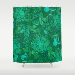 Giardino Emerald Shower Curtain