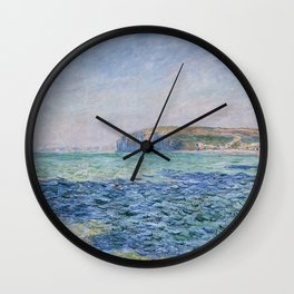 Shadows on the Sea at Pourville by Claude Monet Wall Clock