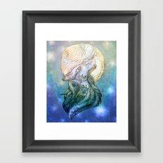 Lunar Wolf Framed Art Print