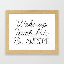 Awesome Teacher Framed Art Print