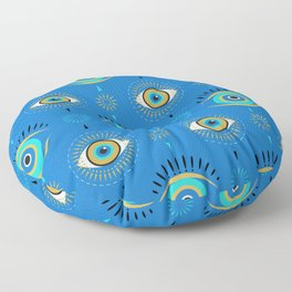 The Evil Eye Blue Floor Pillow