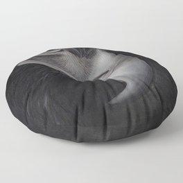 'GAZE' - Wedge Tail Eagle, original artwork in Charcoal & Pastel Floor Pillow