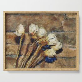 Roses and Stone PhotoArt Serving Tray