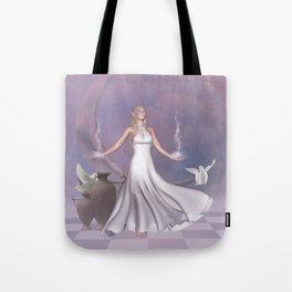 Wonderful fairy with dove Tote Bag