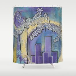 Midnight City Shower Curtain