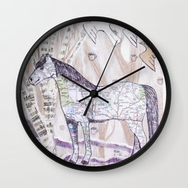 Snowy Evening Woods Wall Clock
