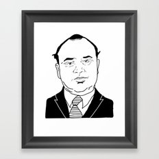 Al 'Scarface' Capone Framed Art Print