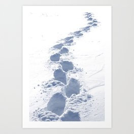Footsteps in the Snow Art Print
