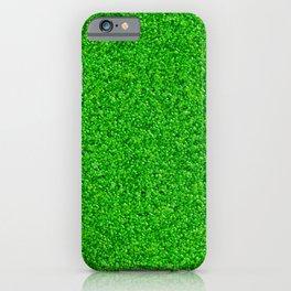 Bright Green Liquid Droplets iPhone Case