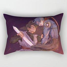 Black Goku vs Trunks Rectangular Pillow