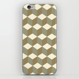 Diamond Repeating Pattern In Meerkat Brown and Grey iPhone Skin