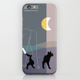 Relaxing with my cat-Landscape-Hills iPhone Case