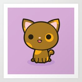 Kawaii Kitty 4 Art Print