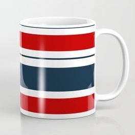 Red, White, and Blue Horizontal Striped Coffee Mug