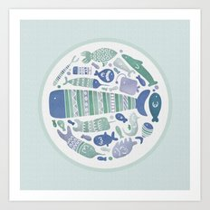Little Fishes Art Print