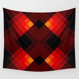 Abstract Retro Pattern 17 Wall Tapestry